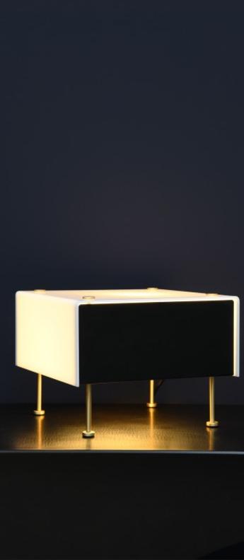 Lampe a poser g60 noir et blanc o33cm h20cm sammode normal