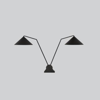 Lampe a poser gear double noir l38cm h65 85cm northern lighting normal