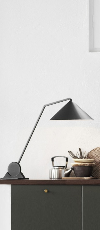 Lampe a poser gear single noir l38cm h65 85cm northern lighting normal · table lamp