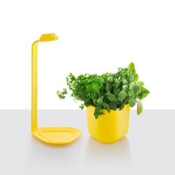 Lampe a poser genie jaune h44cm tregren normal