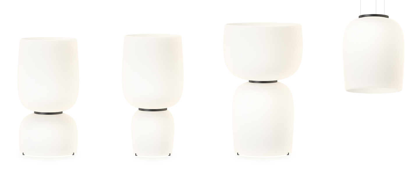 Lampe a poser ghost 4965 blanc led 2700k 5432lm o47 5cm h92cm vibia normal