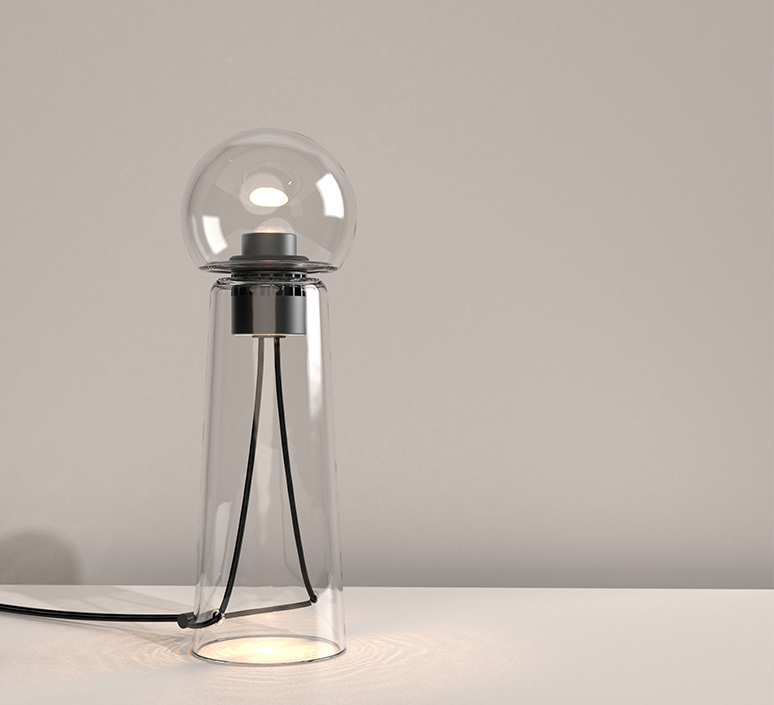 Gigi table alexandre joncas gildas le bars lampe a poser table lamp  d armes gitact2  design signed nedgis 123518 product