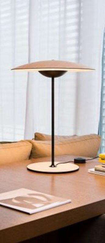 Lampe a poser ginger m chene led o42cm h54cm marset normal