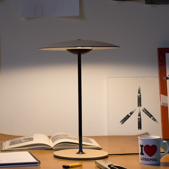 Lampe a poser ginger m wenge led o42cm h54cm marset normal