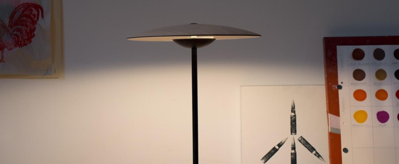 Lampe a poser ginger wenge led h46 5cm marset normal