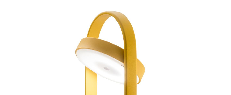 Lampe a poser giravolta 1799 50 jaune led 3000k 157lm o15cm h50cm pedrali normal
