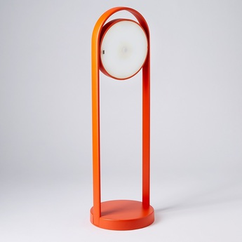 Lampe a poser giravolta 1799 50 orange led 3000k 157lm o15cm h50cm pedrali normal