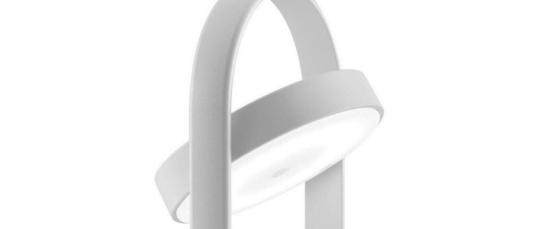 Lampe a poser giravolta 1799 blanc led 3000k 157lm o15cm h33cm pedrali normal