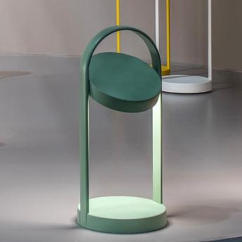 Lampe a poser giravolta 1799 vert led 3000k 157lm o15cm h33cm pedrali normal