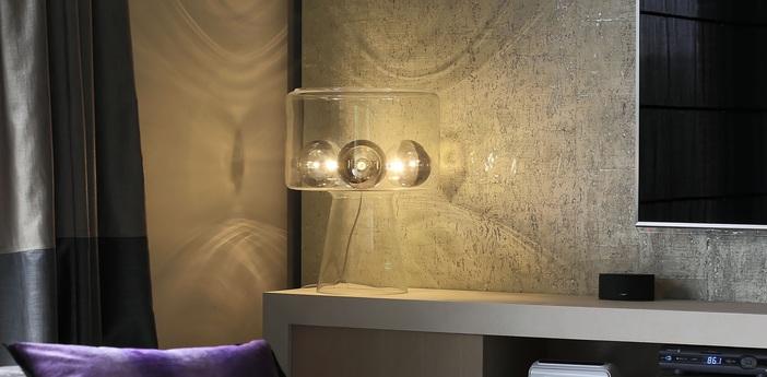 Lampe a poser gl350 transparent o23cm h52cm hind rabii normal