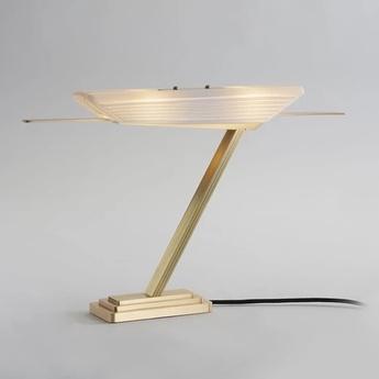 Lampe a poser glaive blanc laiton l50cm h30cm bert frank normal