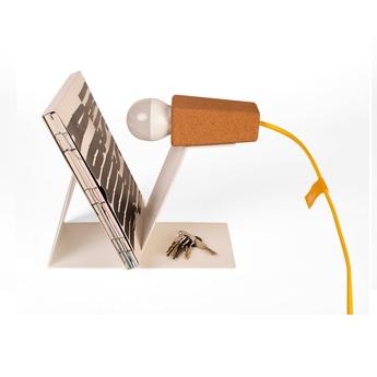 Lampe a poser glint liege clair blanc jaune l24cm galula normal