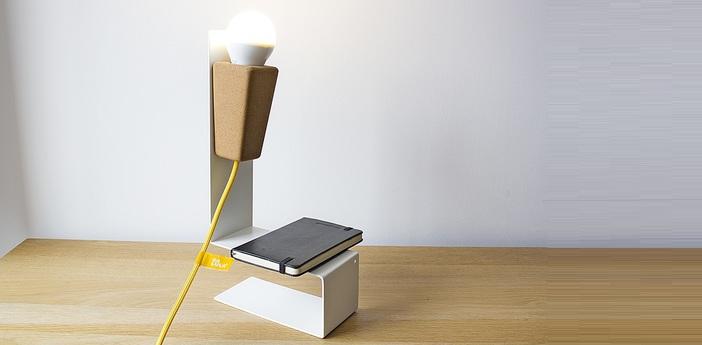 Lampe a poser glint liege clair blanc jaune l32cm galula normal