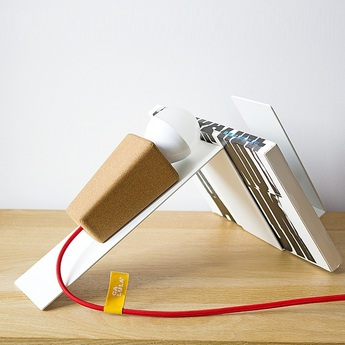Lampe a poser glint liege clair blanc rouge l32cm galula normal