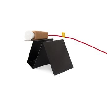 Lampe a poser glint liege clair noir rouge l24cm galula normal