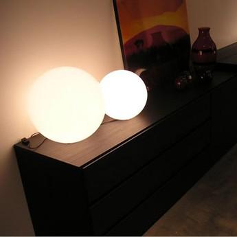 Lampe a poser globo blanc o30cm slide normal