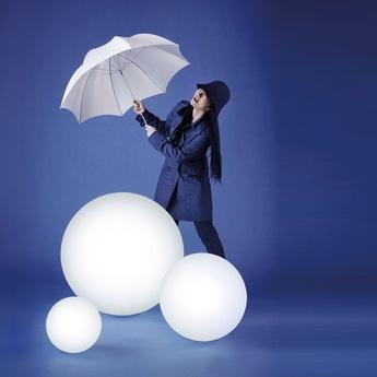 Lampe a poser globo blanc o70cm slide normal