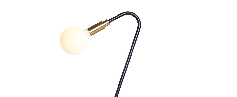 Lampe a poser globos noir l15cm h52 5cm daniel gallo normal