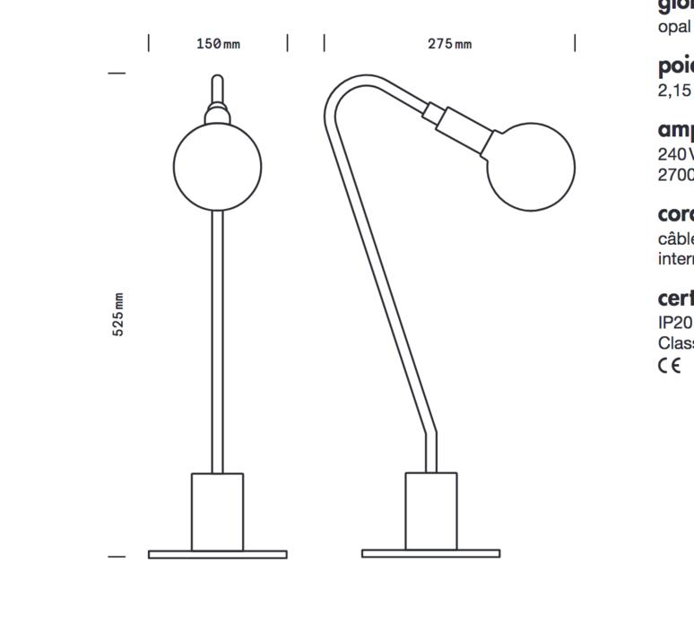 Globos daniel gallo lampe a poser table lamp  daniel gallo globos  design signed 59557 product