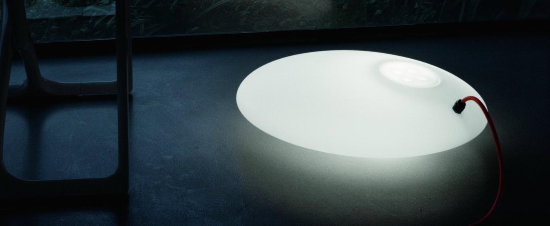 Lampe a poser glouglou pol blanc o40cm martinelli luce normal