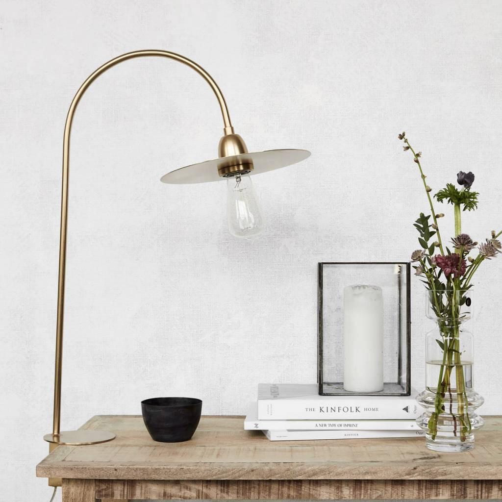 lampe poser glow laiton h78 7cm house doctor. Black Bedroom Furniture Sets. Home Design Ideas