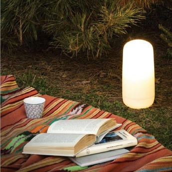 Lampe a poser gople portable blanc o13cm h26 7cm artemide normal