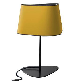 Lampe a poser grand nuage jaune fil noir h62cm designheure normal
