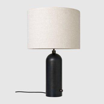 Lampe a poser gravity l acier noirci o41cm p65cm gubi 011 03154 04 normal