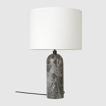 Lampe a poser gravity l gris marbre o41cm p65cm gubi normal