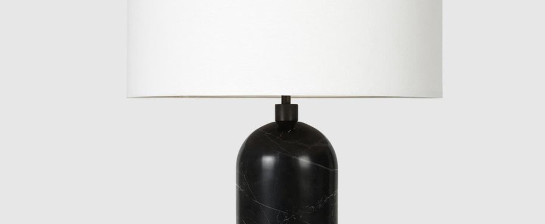 Lampe a poser gravity l noir marbre o41cm p65cm gubi normal