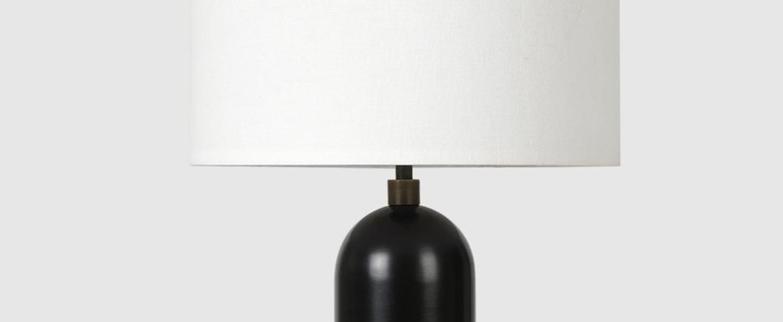 Lampe a poser gravity s acier noirci o30cm p49cm gubi normal