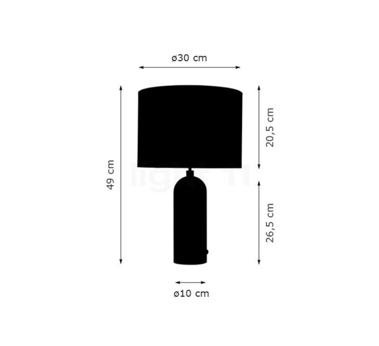 Gravity s space copenhagen lampe a poser table lamp  gubi 011 02154 04  design signed 47364 product