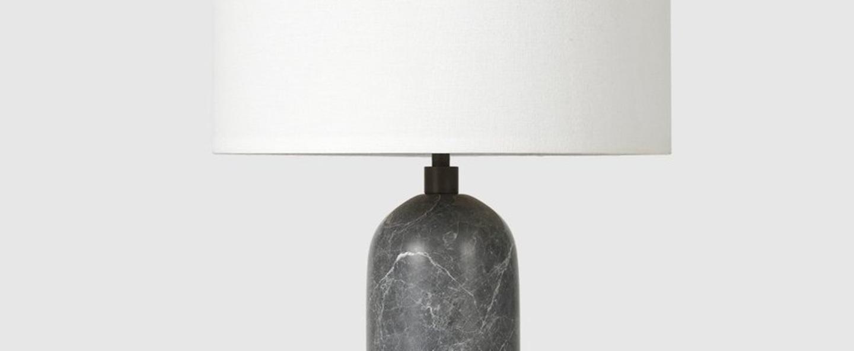 Lampe a poser gravity s gris marbre o30cm p49cm gubi normal