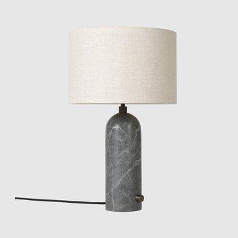 Lampe a poser gravity s gris marbre o41cm p65cm gubi normal