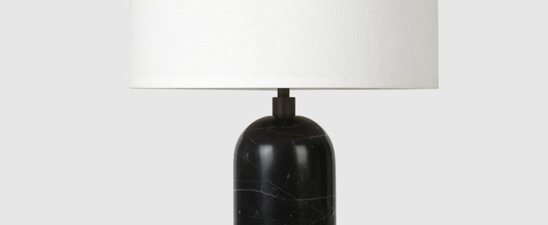 Lampe a poser gravity s noir marbre o30cm p49cm gubi normal