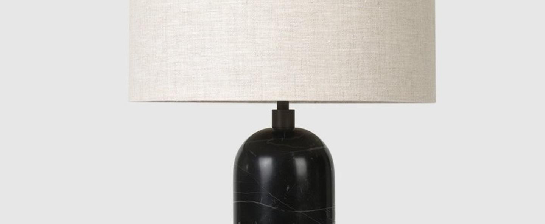 Lampe a poser gravity s noir marbre o41cm p65cm gubi normal