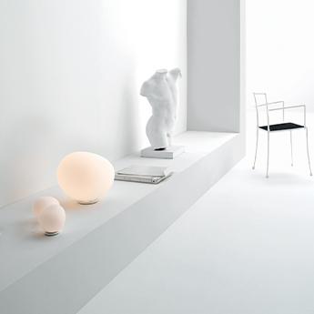 Lampe a poser gregg piccola blanc et blanc l13cm h11cm foscarini normal