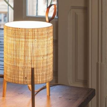 Lampe a poser greta chene fibre o20cm h33cm carpyen normal