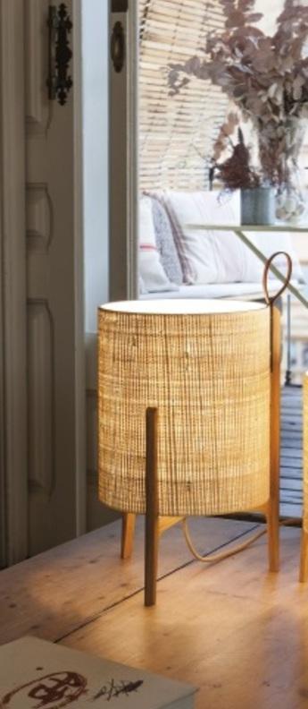 Lampe a poser greta chene fibre o26cm h44cm carpyen normal