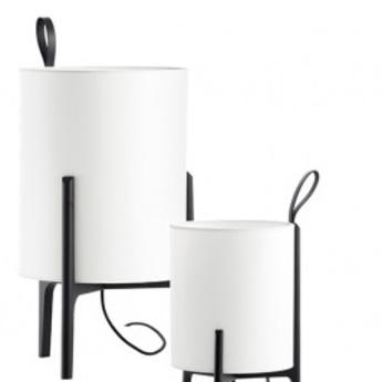 Lampe a poser greta chene noir blanc o33cm h58cm carpyen normal