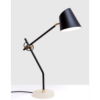 Lampe a poser hartau table noir o44cm h56cm d armes normal