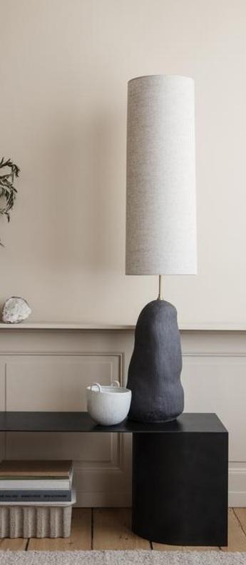 Lampe a poser hebe nature et noirl o23cm h100 5cm ferm living normal