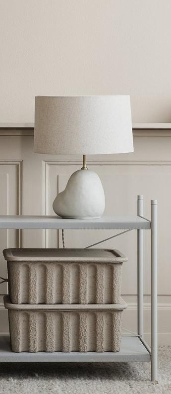 Lampe a poser hebe naturel o23cm h48cm ferm living normal