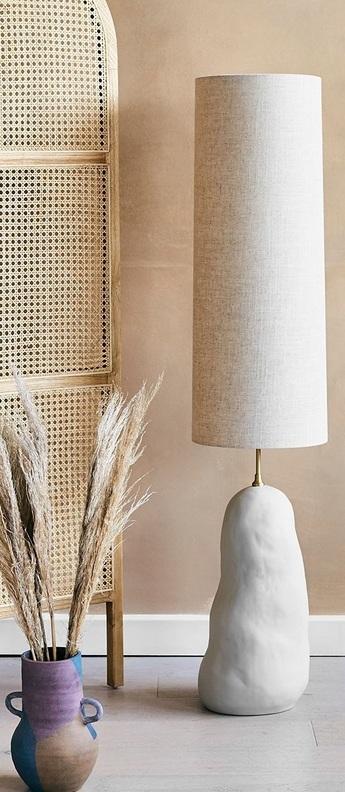 Lampe a poser hebe naturel o30cm h128cm ferm living normal