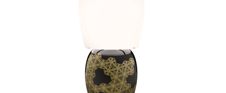 Lampe a poser hive noir o25cm h47cm kundalini normal