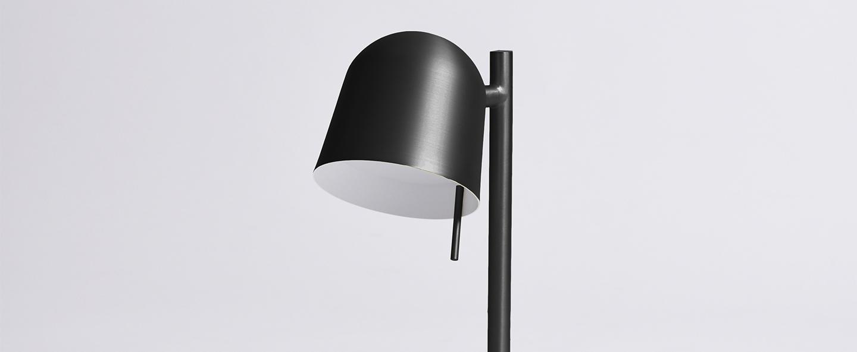 Lampe a poser ho table noir l15cm h43cm eno studio normal