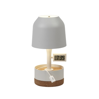 Lampe a poser hodge podge s blanc h30cm forestier normal