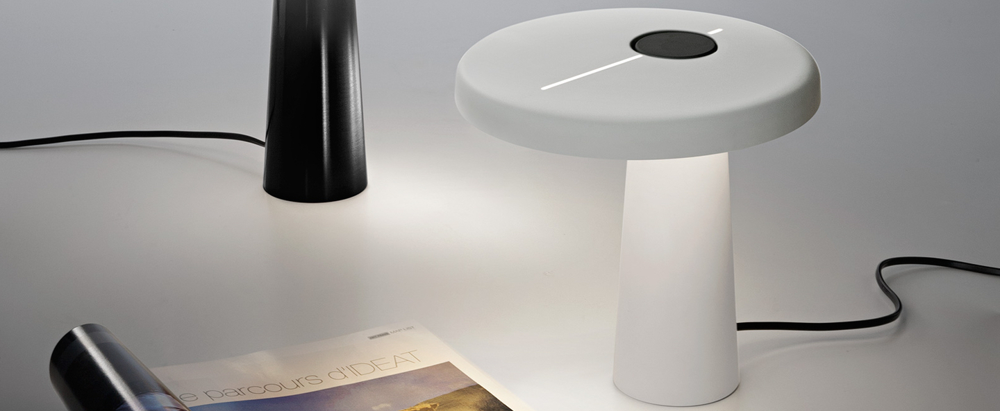 Lampe a poser hoop blanc o21cm martinelli luce normal