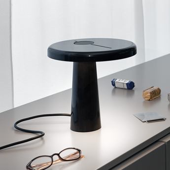 Lampe a poser hoop noir o21cm martinelli luce normal