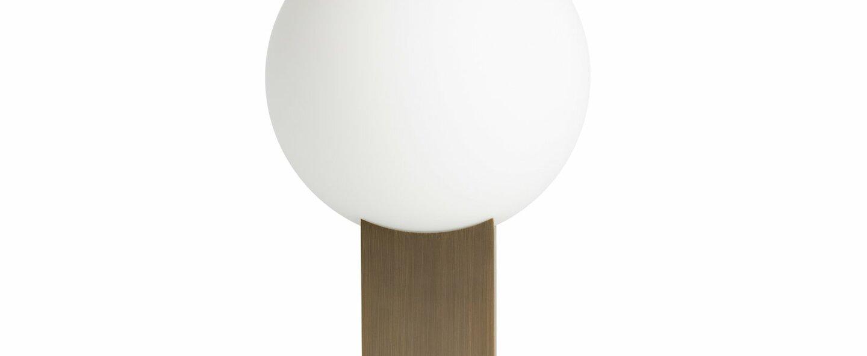 Lampe a poser hoop verre opalin bronze l20cm h34cm norr11 normal